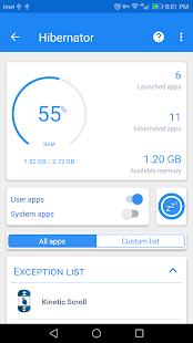 Hibernator - Đóng ứng dụng và lưu màn hình cho pin