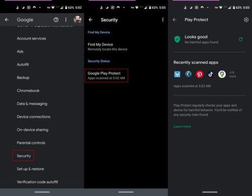 Cách bật / tắt Google Play Protect trên Android 2