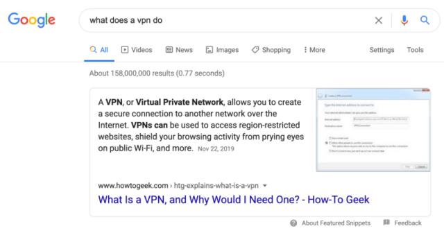 Google nhấn mạnh kết quả tìm kiếm trên trang web 1