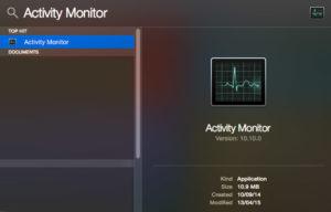 Mở màn hình hoạt động trên máy Mac