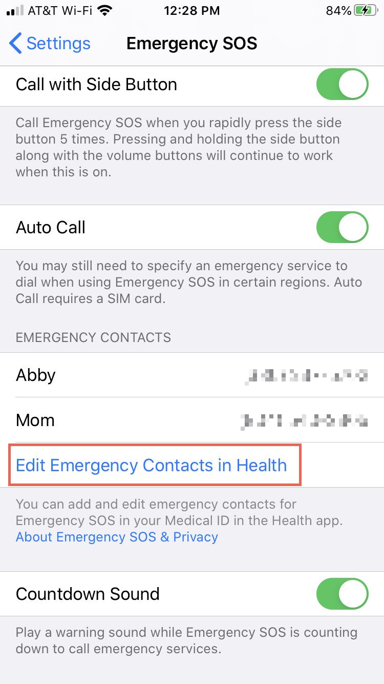 Cài đặt Thêm danh bạ khẩn cấp iPhone
