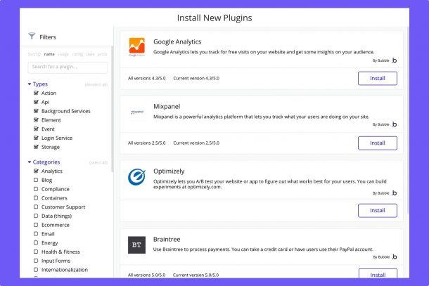 Bubble, một trình soạn thảo trực tuyến để thiết kế các ứng dụng web mà không cần lập trình 2
