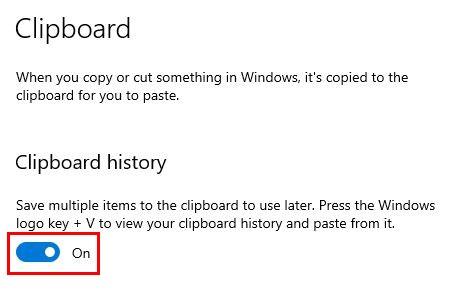 Làm thế nào để xóa Windows 10 lịch sử clipboard 5