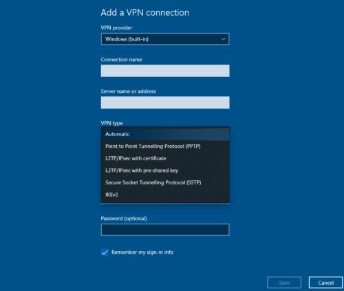 Hướng dẫn sử dụng: Windows 10 cài đặt VPN 3