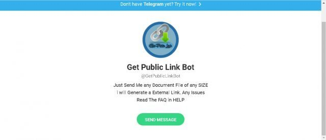 Nahrajte dokument a stiahnite odkaz na stiahnutie pomocou spodnej časti tohto telegramu 1