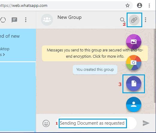 Možnosti príloh WhatsApp