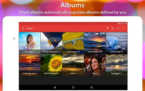 Screenshot galérie F-Stop