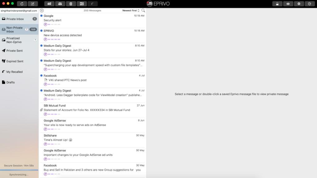 EPRIVO Review - Zabezpečte svoju aktuálnu e-mailovú adresu ľahko 4