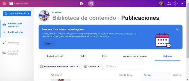 Creator Studio, oficiálny nástroj pre správu a správu vašich Instagram 1