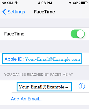Apple    E-mailová adresa ID a FaceTime na iPhone