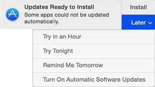 Aktualizácie pripravené na inštaláciu upozornenia na počítačoch Mac