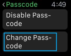 Zmeňte heslo Apple Watch
