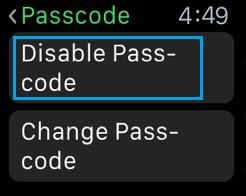 Zakázať heslo zapnuté Apple Watch