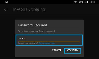 Choď ďalej Amazon Heslo je zapnuté Kindle požiarne