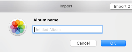 Na počítači Mac zadajte nový názov fotoalbumu