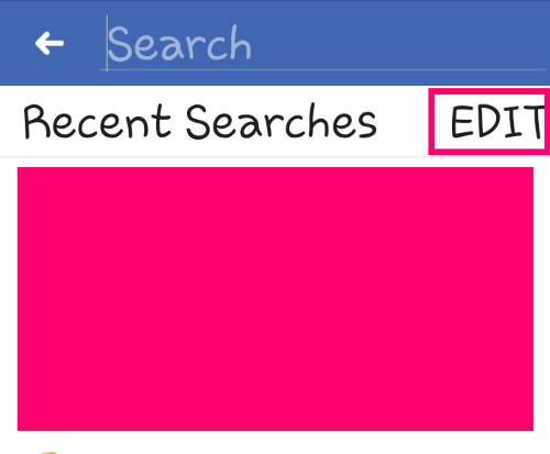 Ako čistiť Facebook História vyhľadávania 2