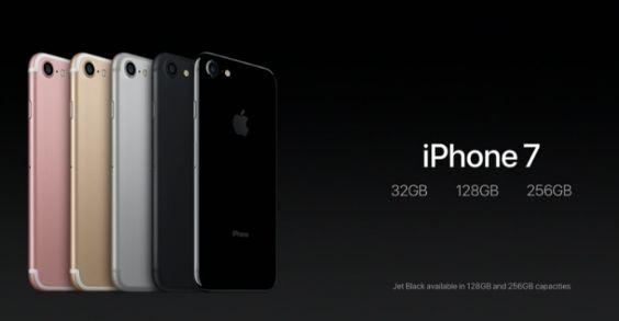 iPhone 7 Färger