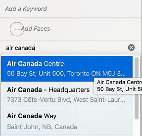 Vyberte umiestnenie v aplikácii Mac Photos