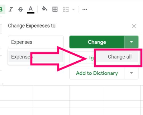 Ako ovládať pravopis v Tabulkách Google 6