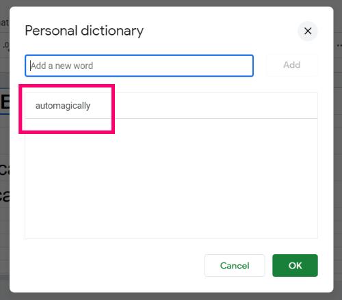 Ako ovládať pravopis v Tabulkách Google 7