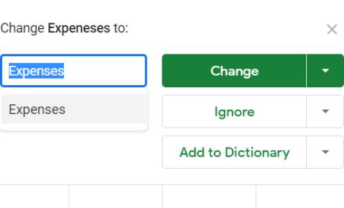 Ako ovládať pravopis v Tabulkách Google 5