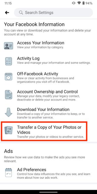 Ako preniesť všetky vaše Facebook fotografie a videá do Fotiek Google 3