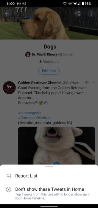 Teraz môžete prispôsobiť Twitter zoznamy v systéme Android, skryte ich obsah z hlavnej časovej osi (stiahnutie súboru APK) 7