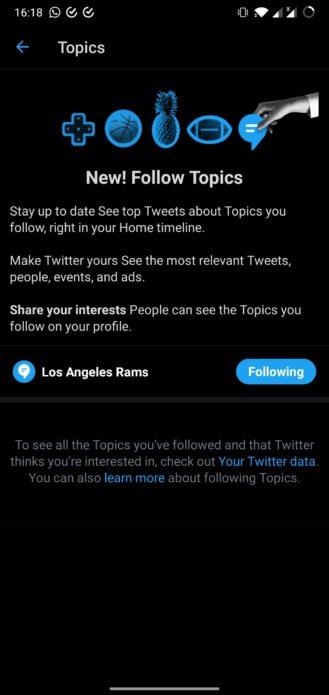 Twitter Rozširuje témy, takže môžete sledovať témy namiesto ľudí 3