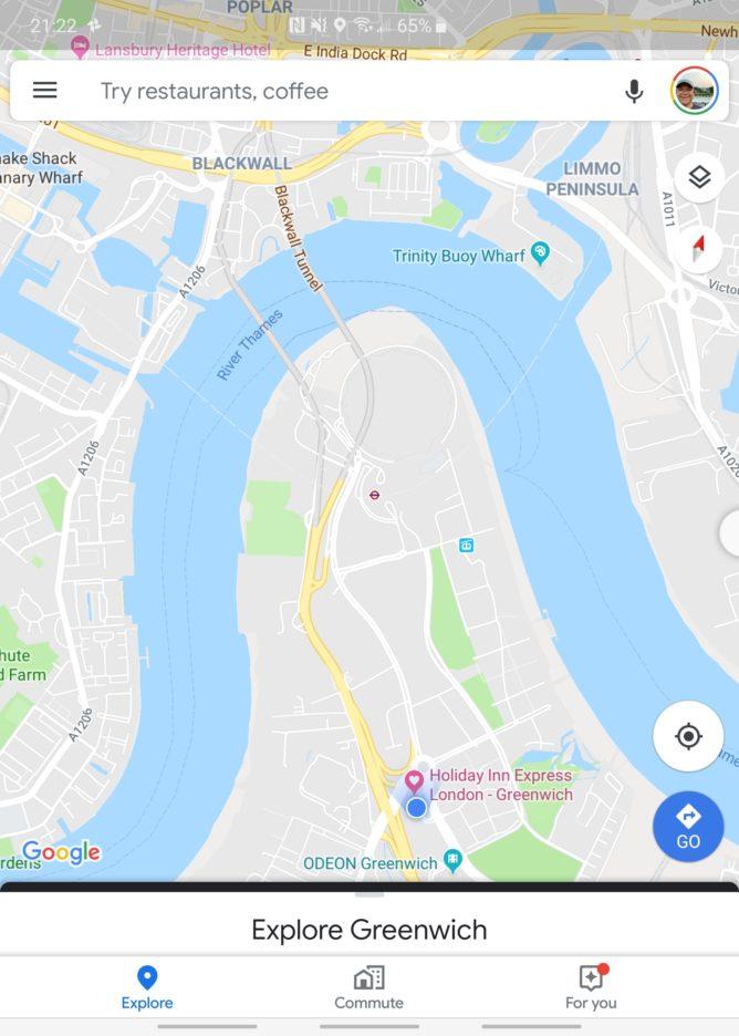 Mapy Google sú zapnuté Fold
