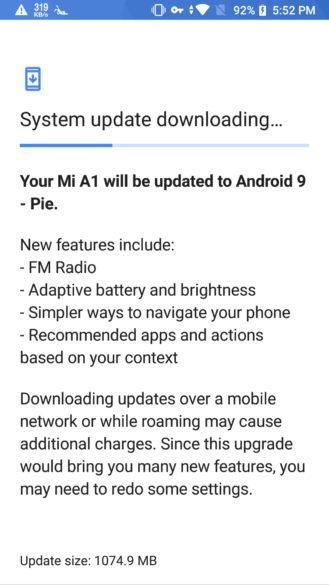 [Update x2: Rolling out globally] Xiaomi začína zavádzať Android 9 Koláč stabilný na Mi A1 viac-menej 2