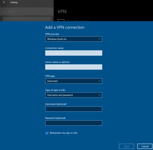 Hướng dẫn sử dụng: Windows 10 cài đặt VPN 2