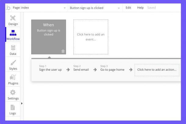 Bubble, một trình soạn thảo trực tuyến để thiết kế các ứng dụng web mà không cần lập trình 1