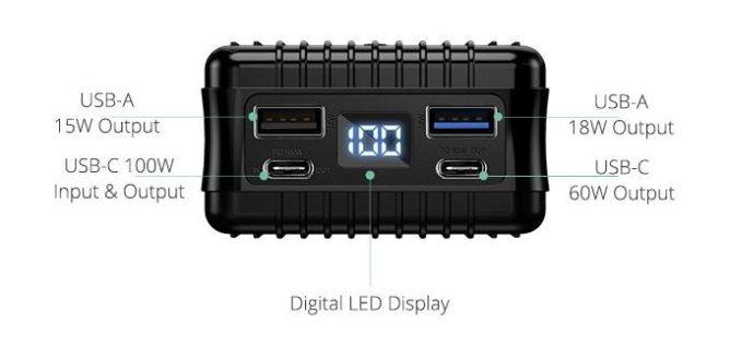 Crowdfundovaná batéria SuperTank sľubuje 100 W výstup prostredníctvom USB typu C 1