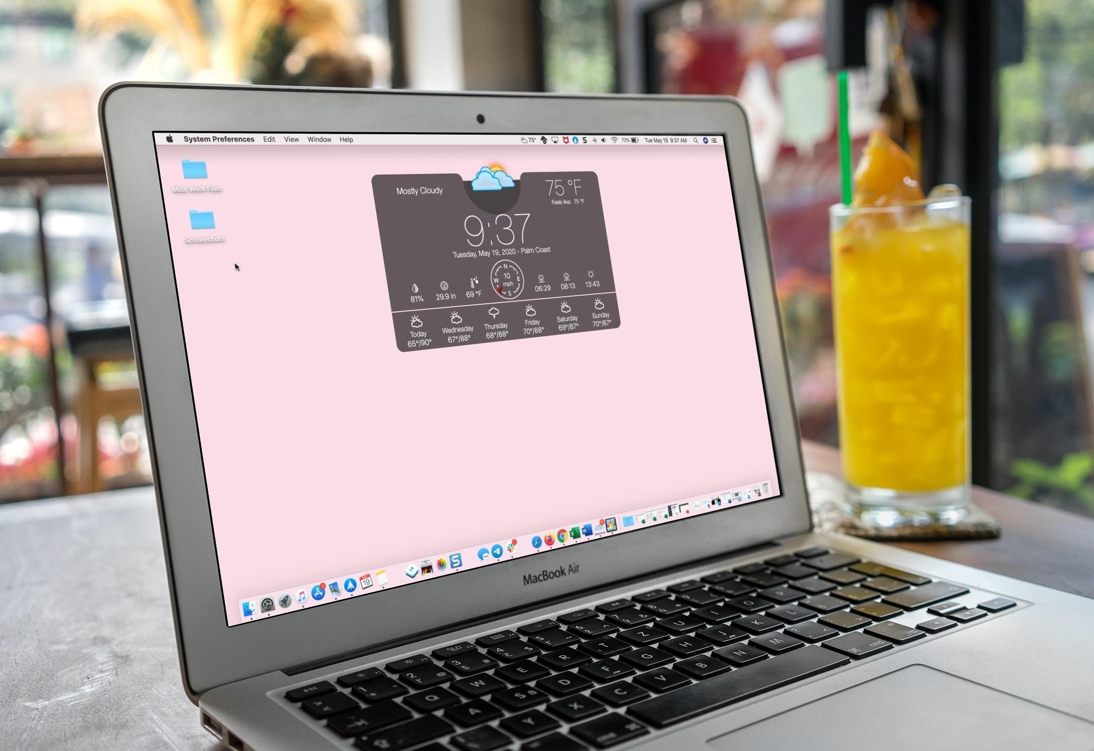 Ứng dụng thời tiết Mac - Máy tính để bàn thời tiết