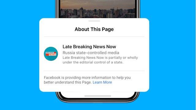 Facebook sẽ gắn thẻ phương tiện do nhà nước kiểm soát trên mạng xã hội 6