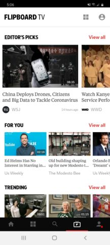 Flipboard sa rozširuje na video s novým Flipboard TV, a Galaxy Okrem času S20 (aktualizácia: spustenie) 1