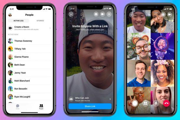 Nhóm cuộc gọi video khi Facebook với Messenger-phòng 1