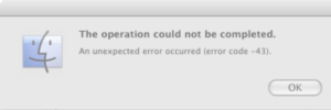 Mã lỗi Mac-43