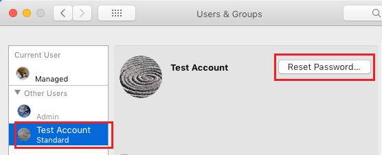 Obnovte heslo používateľského účtu v počítačoch Mac