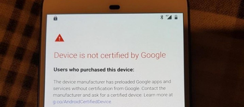 """Ako opraviť """"Zariadenie nie je certifikované spoločnosťou Google"""" 1"""