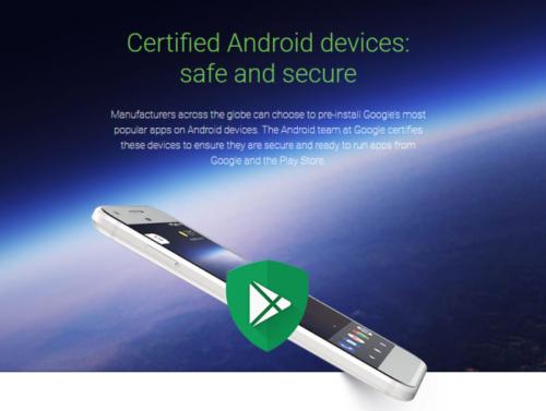 Zariadenie nie je certifikované spoločnosťou Google