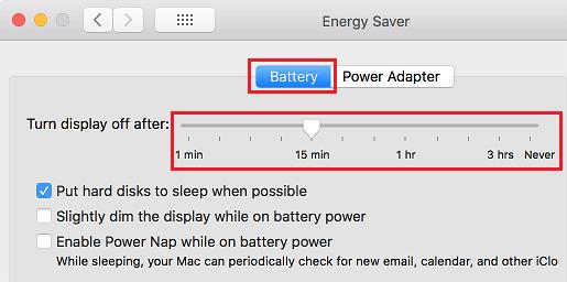 Vypnite obrazovku po posuvníku na počítači Mac
