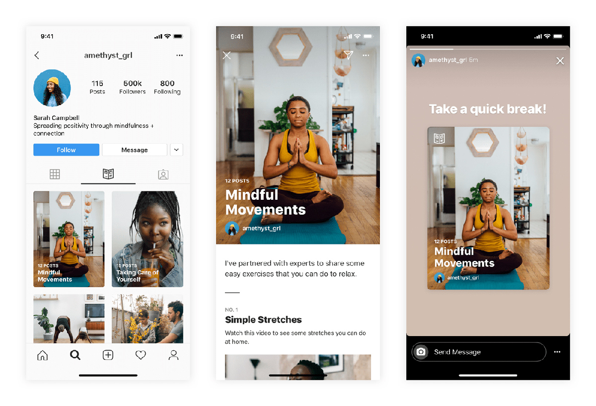 Instagram Predstavuje funkciu sprievodcov; Dlhodobá obsahová stratégia pre tvorcov 1