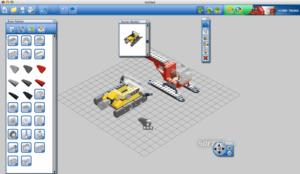 Náhľad aplikácie Lego Digital Designer