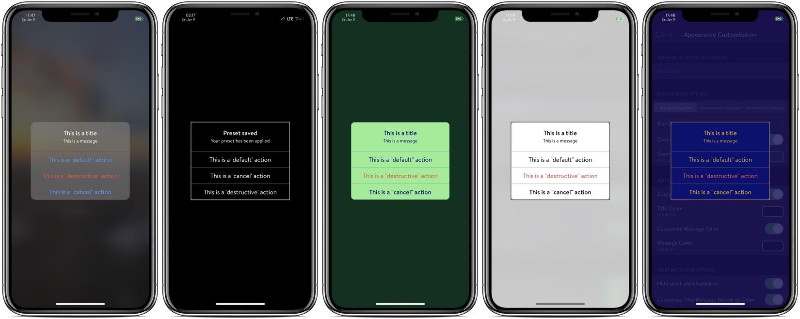 Thêm bất kỳ ký tự nào vào tin nhắn cảnh báo trên iPhone của bạn bằng Snell 1