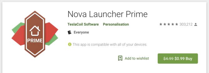 Nova Launcher Prime na predaj iba za $1 - lacnejšie v niektorých krajinách 1