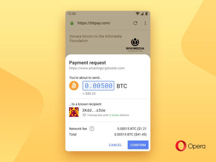 Opera granskar Android-webbläsaren med temasupport, kryptobetalningar och mer 1