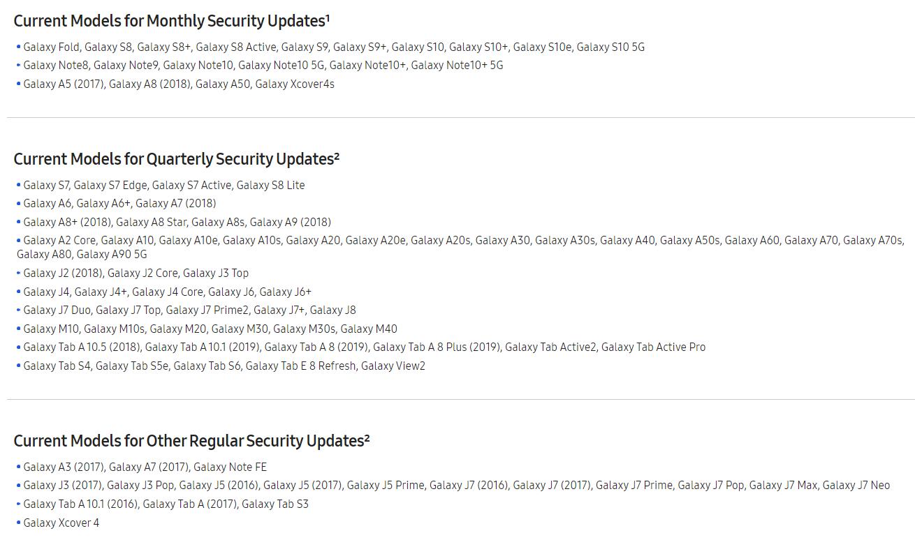 Spoločnosť Samsung ruší aktualizácie zabezpečenia pre tri zariadenia, ostatné zníži na štvrťročné aktualizácie 1