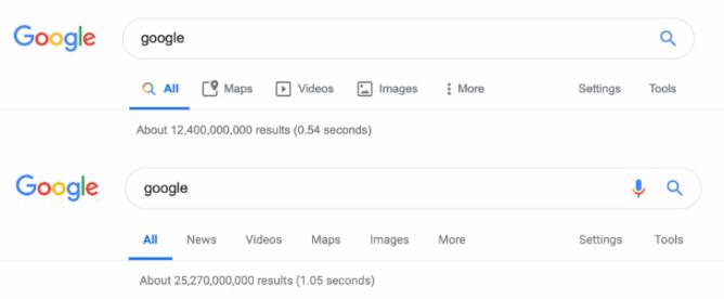 [Update: Rolling out to all] Spoločnosť Google testuje ikony tém materiálu pre filtre vyhľadávania na počítači 1