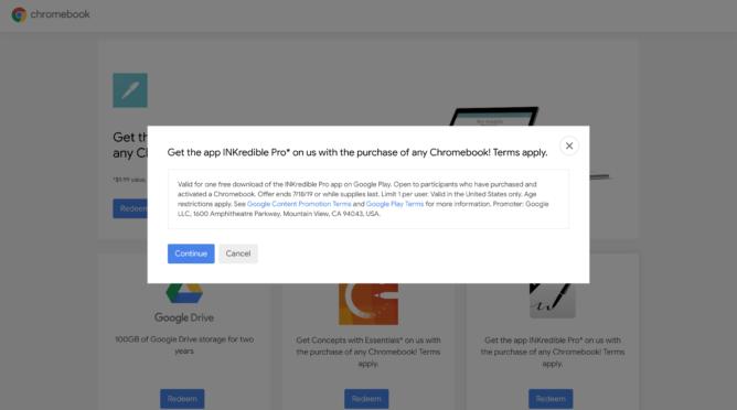 [Update: Two new offers] Pripomenutie: Chyťte Chromebook zadarmo, vrátane INKredible Pro a Noteshelf 1